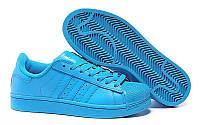 Кроссовки Adidas Superstar Supercolor PW Sharp Blue (Голубой)