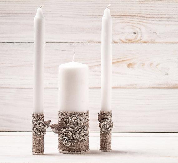 Весільні свічки ручної работи рустік
