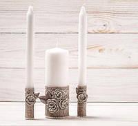 Весільні свічки ручної работи рустік, фото 1