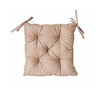 Подушка на стул 40х40см Горох коричневий (бязь)