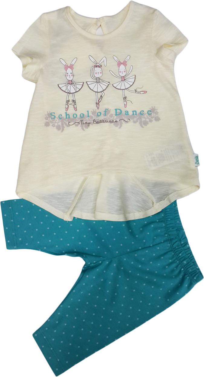 Летний костюм на девочку  туника+шорты ТМ Бемби КС512 размеры 86