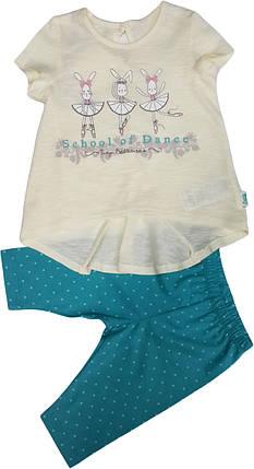 Летний костюм на девочку  туника+шорты ТМ Бемби КС512 размеры 86 , фото 2