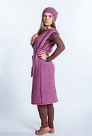 Платье вязаное пастельно-розовое