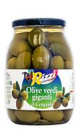 """Оливки зеленые гигантские """"Rizzi Olive Verdi Giganti IN SALAMOIA"""", 1062 гр."""