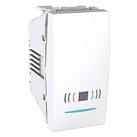 """MGU3.106.18CN. Выключатель кнопочный. Символ """"Звонок"""". С подсветкой. 1-модульный. Белый Unica"""