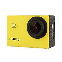 Экшн камера SJ4000 фото 12 МР HD - 1080P Жёлтая