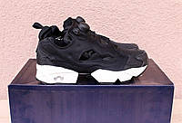 Кроссовки Reebok insta pump fury OG black/white. Живое фото (Реплика ААА+)