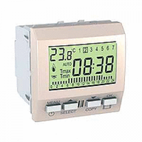 MGU3.505.25. Цифровой программируемый термостат. Отопление/кондиционирование. 8А (+5.35°С). Слоновая кость Unica
