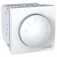 MGU3.510.18. Светорегулятор поворотно-нажимной. Для флюоресцентных ламп. 400ВА. 2 модуля. Белый Unica
