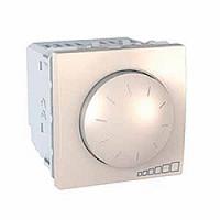 MGU3.510.25. Светорегулятор поворотно-нажимной. Для флюоресцентных ламп. 400ВА. 2 модуля. Слоновая кость Unica