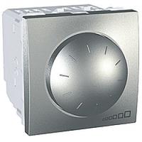 MGU3.510.30. Светорегулятор поворотно-нажимной. Для флюоресцентных ламп. 400ВА. 2 модуля. Алюминий Unica