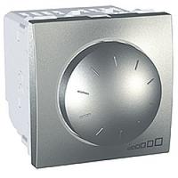 MGU3.511.30. Светорегулятор поворотно-нажимной. 230/12В лоя устройств с ферромагнитным трасформатором. Алюминий Unica
