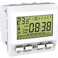 MGU3.505.18. Цифровой программируемый термостат. Отопление/кондиционирование. 8А (+5.35°С). Белый Unica
