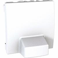 MGU3.862.18. Адаптер для подсоединения кабеля. 2-модульный. Белый Unica