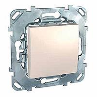 MGU5.201.25ZD. Выключатель 1-клавишный. 2 модуля. Слоновая кость Unica