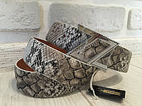 Кожаный ремень Zilli  рептилия 1120
