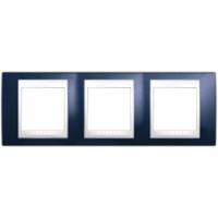 MGU6.006.842. Рамка 3-постовая. Unica Plus. Индиго/Белый Unica