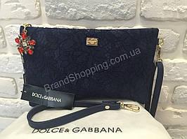 Сумка-клатч Dolce&Gabbana синий 9644BL