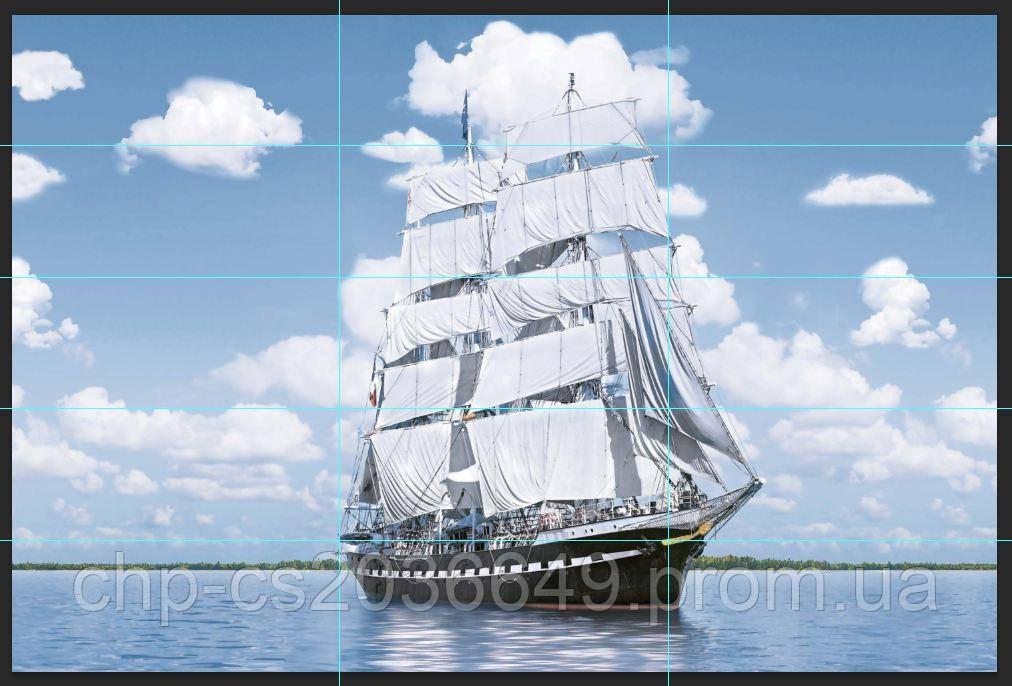 Панно  Корабль кафель, плитка 20х50см.