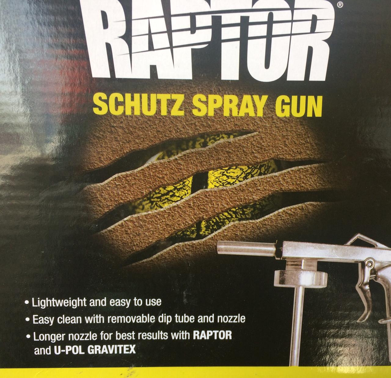 Пистолет u-pol для нанесения антигравия и raptor