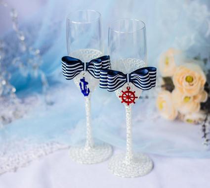 Свадебные бокалы - морские
