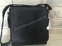 Мужская кожаная сумка Gucci 0018s