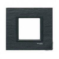 MGU68.002.7Z1. Рамка 1-постовая. Черный камень. Unica Class