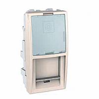 MGU9.461.25. Накладка для компьютерной розетки. RJ45 LUCENT&ATT(AVAYA). 1-модульная. Слоновая кость Unica
