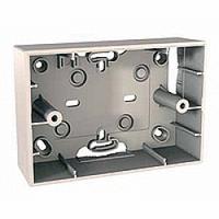 MGU8.103.25. Монтажная коробка для наружной проводки. 3-модуля. Unica Allegro Слоновая кость