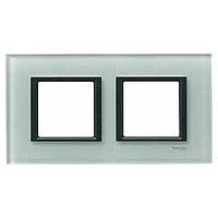 MGU68.004.7C3. Рамка 2-постовая, Матовое стекло. Unica Class