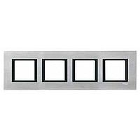 MGU68.008.7A1. Рамка 4-постовая, Серебристный алюминий. Unica Class