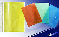 Папка-конверт А4 My CLEAR W209-14S цветная, без этикетки