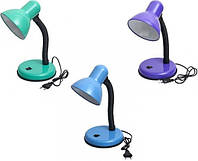 Лампа настольная 203B с кнопкой (220 В) разные цвета