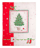 Купить полотенце вафельное новогоднее Елочка