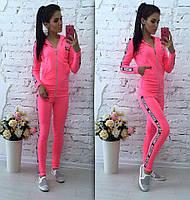 Женский спортивный костюм Chanel Шанель ткань двухнитка розовый
