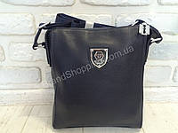 Мужская синяя кожаная сумка Philipp Plein 0071s