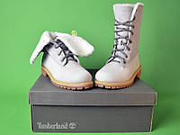 Теплые ботинки Timberland Teddy Fleece China Grey (С МЕХОМ)