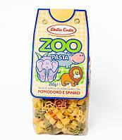 Детские макароны Dalla Costa Zoo c томатом и шпинатом, 300 г., фото 1