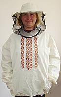 Куртка пчеловода двунитка с маской   р.58-60