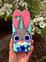 Силиконовый чехол Джуди Хоппс iPhone 6S/6, ментоловый