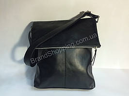 Итальянская мужская сумка Genium Leather black 0205s