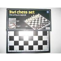 """Игра настольная """"3 в 1"""" (шахматы, шашки, нарды) на магнитах"""