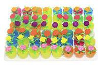 """Игрушка-напухашка """"Цветы в горшке"""" маленькие, 3.8 см. (48шт./упаковка)"""