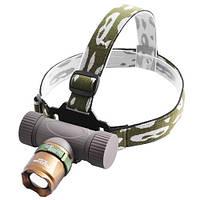 Ультрафиолетовый фонарь на лоб Police 12V 6866-UV 365 nm ultra strong zoom