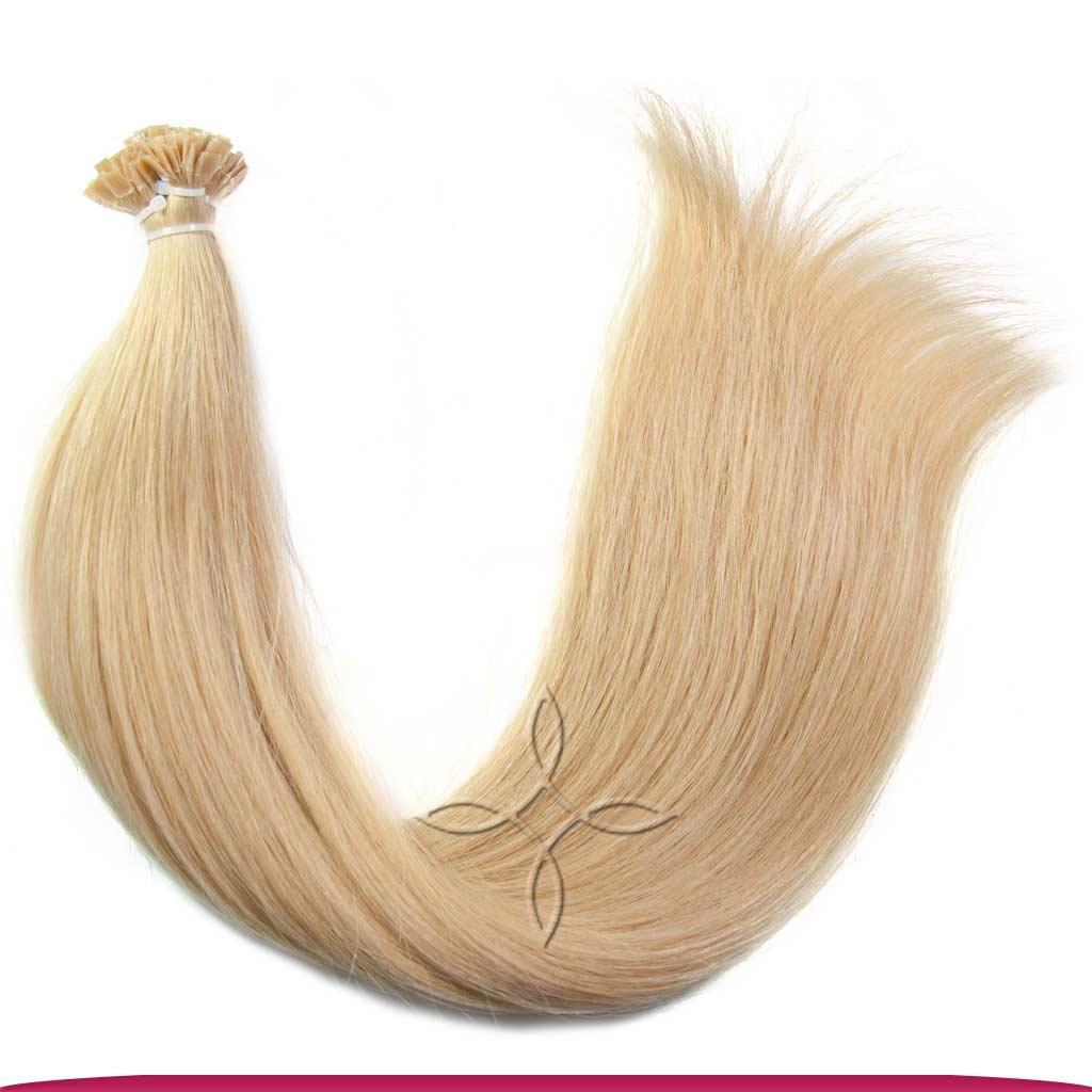 Натуральные Европейские Волосы на Капсулах 50 см 100 грамм, Блонд №101
