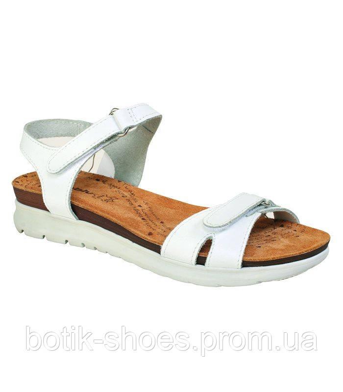 Женские удобные белые кожаные сандалии на платформе Inblu -  интернет-магазин обуви