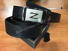 Кожаный ремень Zegna с автоматической пряжкой 1162