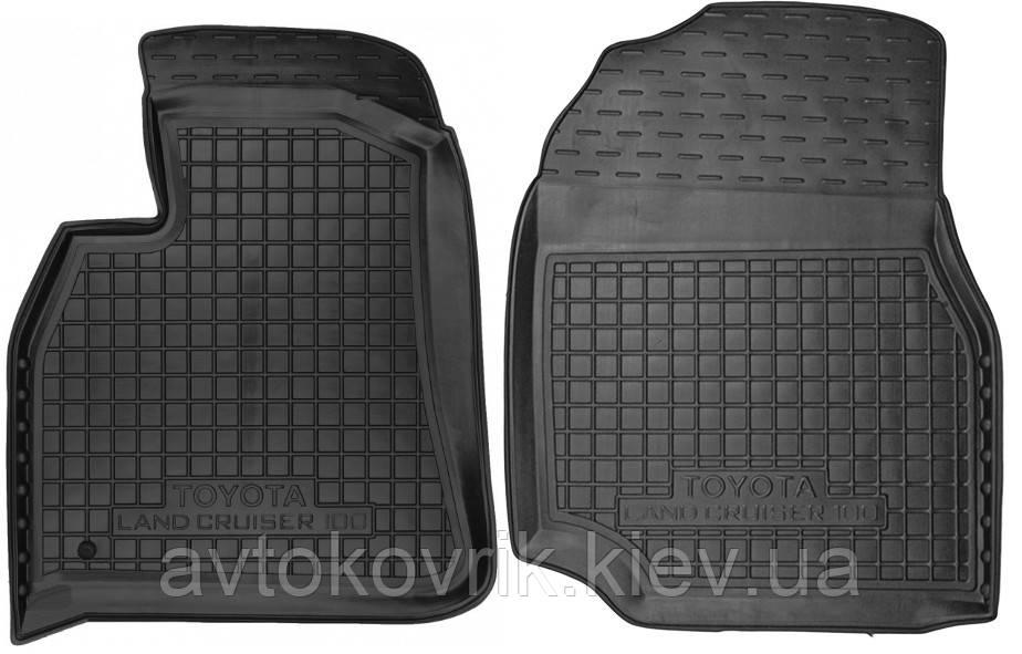 Полиуретановые передние коврики в салон Toyota Land Cruiser 100 1998-2007 (AVTO-GUMM)