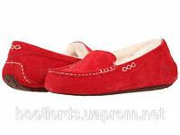 Качественные женские UGG Australia (Угги Оригинал) мокасины Ansley красные. Model: 5612