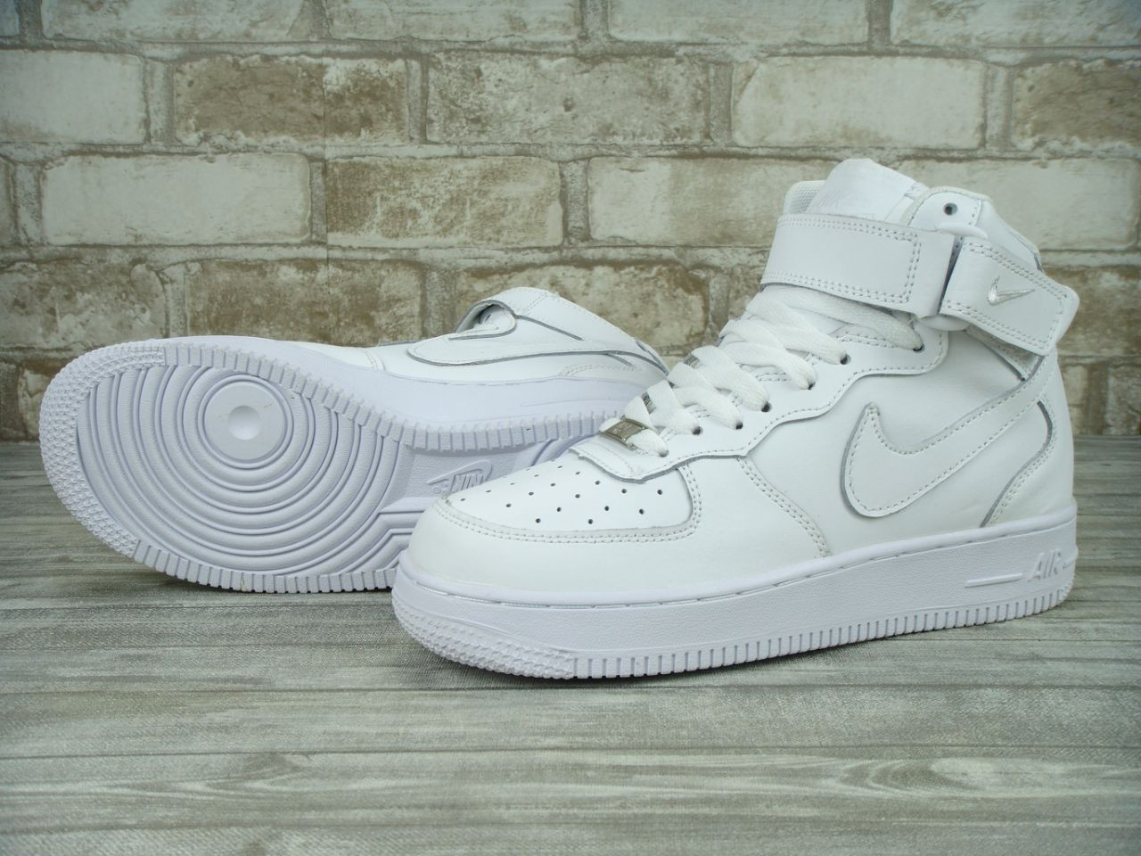 Кроссовки Nike Air Force High белые унисекс (Реплика ААА+)  продажа ... b4d4cd4e944